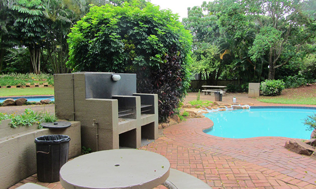 Dolphin Escapes, , Ballito, KwaZulu-Natal , Swimming Pool, Braai Area, Parking on Premises, Dining Area, Full Kitchen, Apartments, Bath towels, Child friendly, DSTV, Fan, Fridge, Garden , Holiday Homes, Laundry facilities, Linen, Microwave, No smoking, Oven, Patio, Self Catering, Shared lounge/TV area, Stove, Tea and coffee facilities, TV